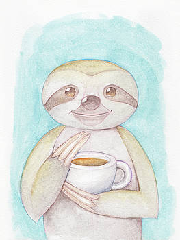 Coffee Sloth by Dream Pigment