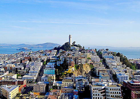 Coit Tower and Alcatraz by Robert Meyers-Lussier