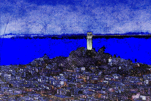Coit Tower San Francisco California USA by Chas Sinklier