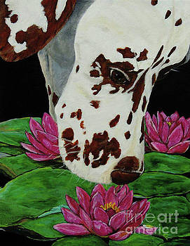 Cola and The Water Lilies by Jacki McGovern