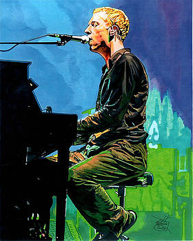 Cold Play Chris Martin by Neal Portnoy
