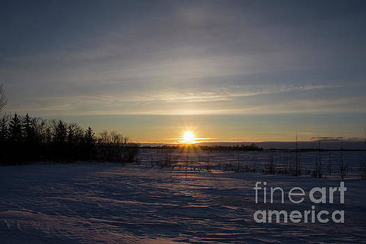 Cold Prairie Sunset by Francis Lavigne-Theriault