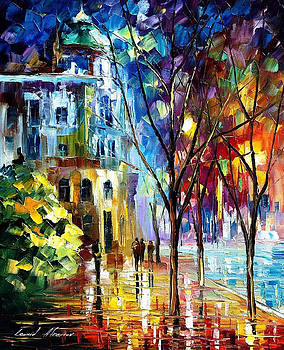Cold Resolution - PALETTE KNIFE Oil Painting On Canvas By Leonid Afremov by Leonid Afremov
