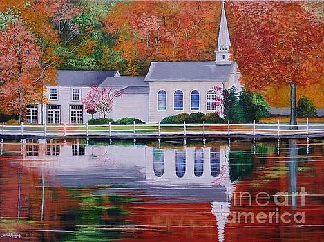 Cold Spring Harbor St Johns Church by Nereida Rodriguez