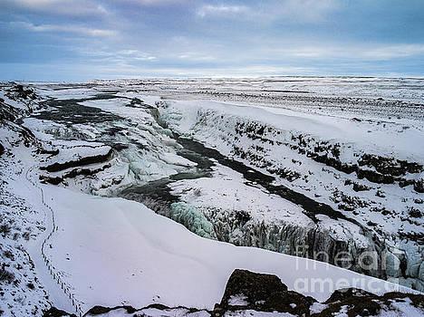 Cold Winter Day At Gullfoss, Iceland by Benjamin Wiedmann