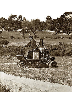 California Views Mr Pat Hathaway Archives - Coldwell Steam powerd lawn more and Roller circa 1902