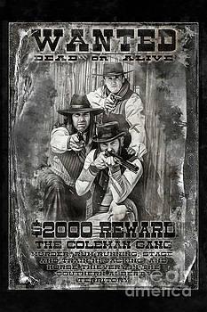 Coleman Gang Wanted Poster by Brad Allen Fine Art