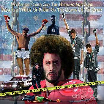 Colin Kaepernick Amongst The Brave Few 2a by Reggie Duffie