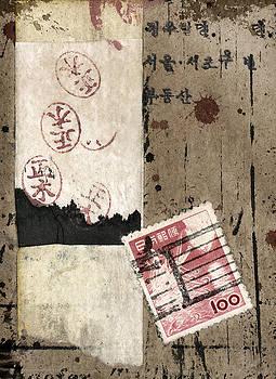Carol Leigh - Collage Envelope Detail Hanko