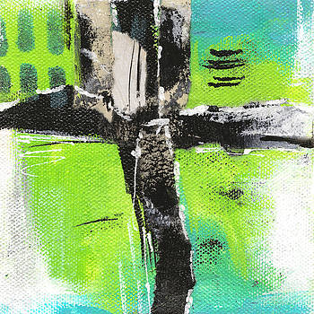 Collage in Teal #2 by Judy Applegarth