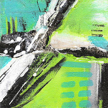 Collage in Teal #3 by Judy Applegarth