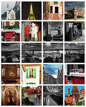 Collage of Travels by Cecil Fuselier
