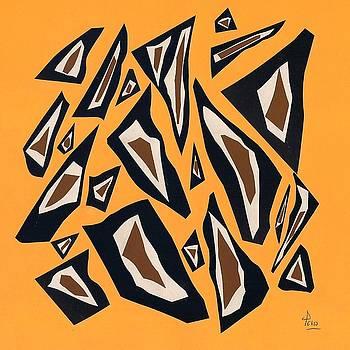 Collage yellow black brown by Eliso Ignacio Silva