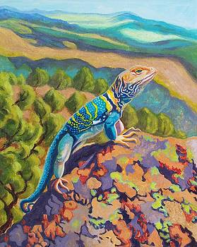 Collared Lizard by Ruth Soller