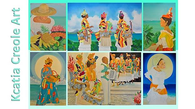 Collection of recent paintings by KCatia Creole Art