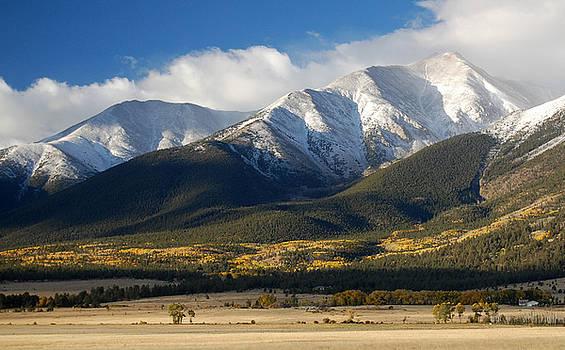 Collegiate Peaks from Buena Vista Colorado by Rhonda Van Pelt