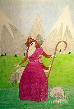 Collie Bo Peep by Wendy Coulson