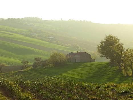 Colline e casa by Alberto V  Donati