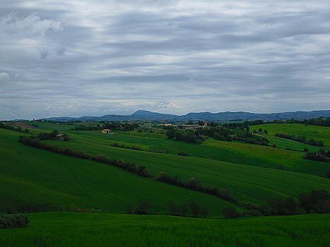 Colline with Monte Conero view by Alberto V  Donati