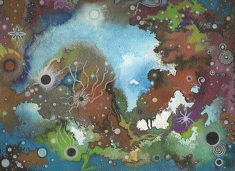 Collision Course Planetary Choas by Janet Hinshaw
