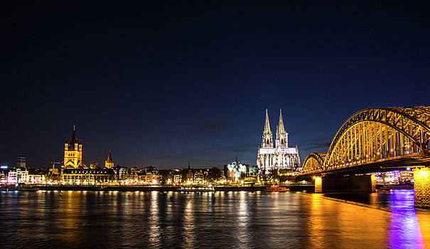 Cologne at Night by Alexandra-Emily Kokova