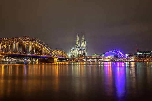 Cologne Cathedral over the Rhine by M C Hood