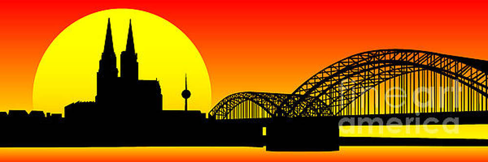 Cologne Skyline by Sandra Hoefer