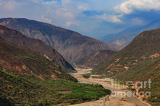 Colombia - The Chicamocha River Winds Through the Canyon in the Santander Department by Devasahayam Chandra Dhas