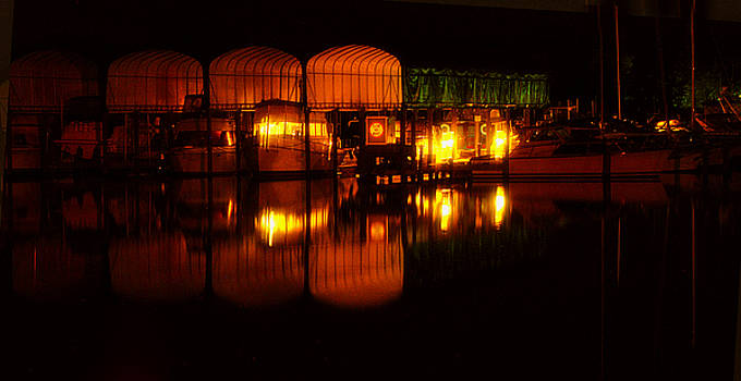 Clayton Bruster - Colonial Beach Docks After Dark