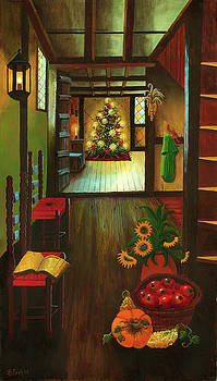 Colonial Christmas Tree by Bonnie Cook
