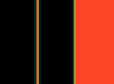 Color block in orange and black by Lisa Stanley