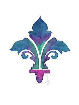 Color Infused Fleur de Lis by Tiffany Lynn Thielke Lesmeister