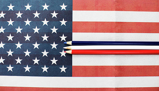 Color Me Red White and Blue by Rebecca Cozart