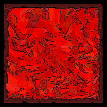 G Linsenmayer - COLOR OF RED VI I CONTEMPORARY DIGITAL ART