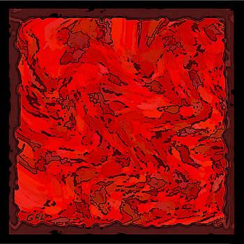 Color Of Red Vi I Contemporary Digital Art by G Linsenmayer