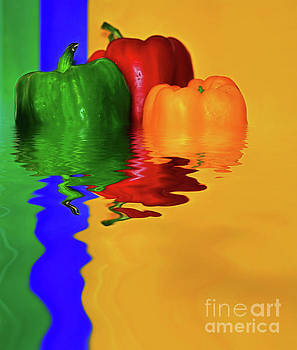 Color Pop Peppers by Kaye Menner by Kaye Menner