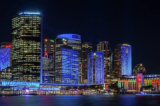 Daniela Constantinescu - Color the City blue - Vivid Sydney