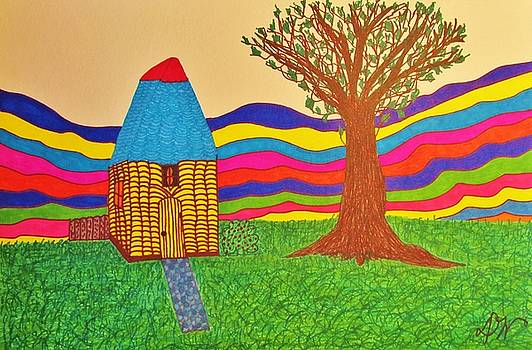 Colorful Fantasy Land by Donna Wilson