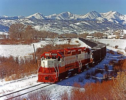 Colorado and Wyoming Railroad locomotive by Colorado Fuel and Iron Photo Department