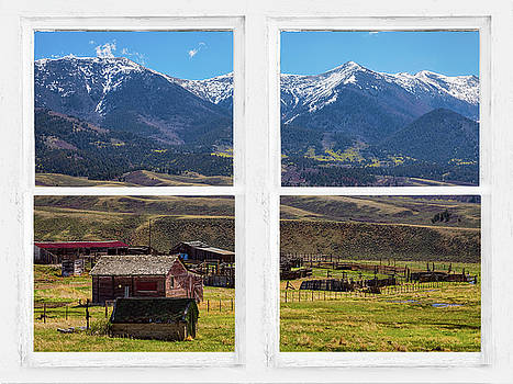 James BO Insogna - Colorado Cattle Ranch Whitewash Picture Window View Art