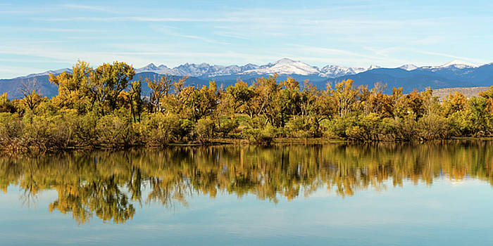 Colorado Continental Divide Autumn Reflections Panorama by James BO Insogna