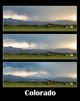 Colorado Front Range Longs Peak Lightning And Rain Poster by James BO Insogna