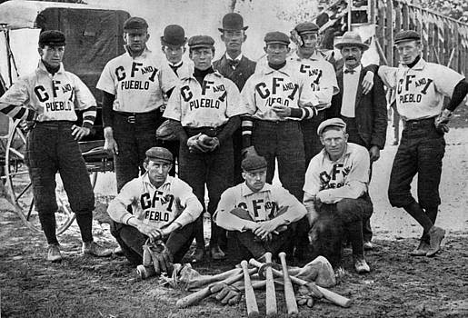 Colorado Fuel and Iron Baseball Team by Colorado Fuel and Iron Photo Department