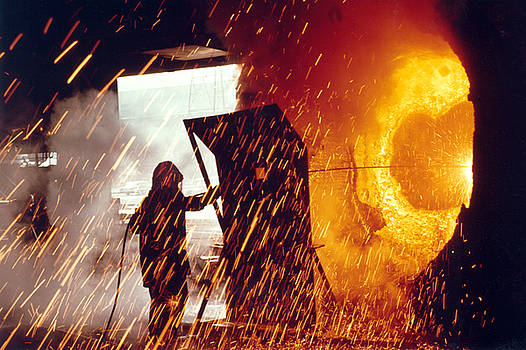 Colorado Fuel and Iron Basic Oxygen Furnace by Colorado Fuel and Iron Photo Department