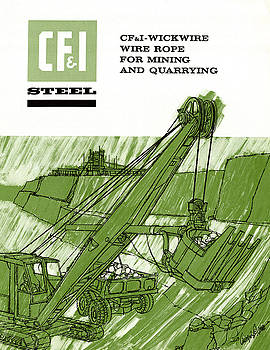 Colorado Fuel and Iron Wire Rope Catalog Cover by Colorado Fuel and Iron Photo Department