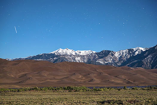 Colorado Great Sand Dunes with Falling Star by James BO Insogna