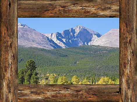 James BO Insogna - Colorado Longs Peak Rustic Wood Window View