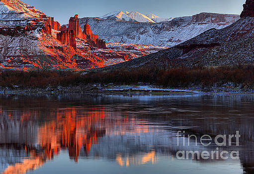 Adam Jewell - Colorado Red Tower Reflections