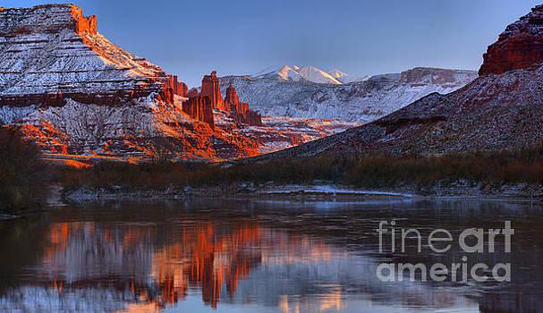 Colorado River Sunset Panorama by Adam Jewell
