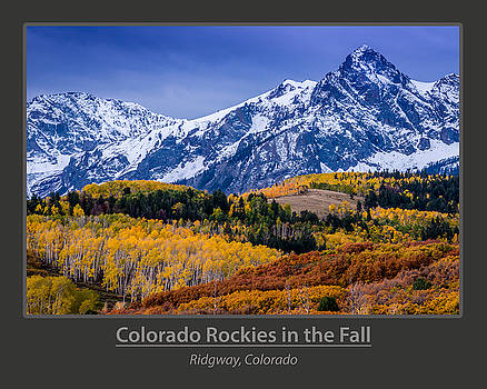 Colorado Rockies in the Fall - Ridgway by Gary Whitton